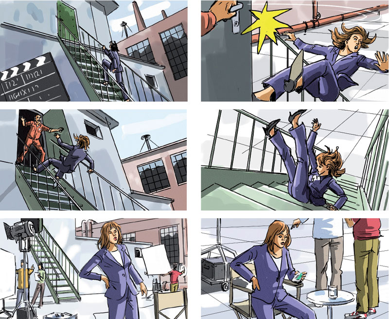 Marco Schaaf, Swiss Illustrator, Creates Storyboard For Tv